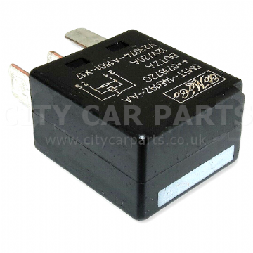 Land Rover Ford Multi-Use Black Relay 12V 20A TYCO 5M5T-14B192-AA has 4 Pins